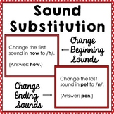 Sound Substitution: Changing Initial & Final Sounds {Phonemic Awareness Skills}