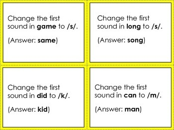 Sound Substitution: Changing Initial & Final Sounds {Phonemic Awareness Game}