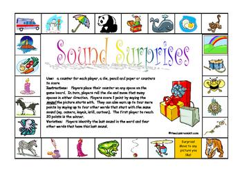 Sound Surprises -Beginning letter sounds - board game