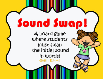 Sound Swap! A game for changing initial sounds! (English Edition)