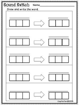 CVC Sound Switch Literacy Station 2- Middle Sounds