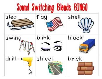 Sound Switching BINGO {beginning blends}