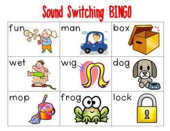 Sound Switching BINGO {beginning sounds}