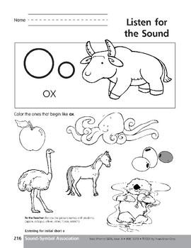 Sound-Symbol Association: Initial Short o