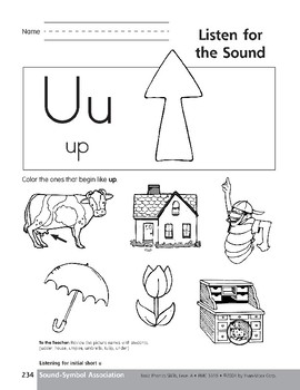 Sound-Symbol Association: Initial Short u