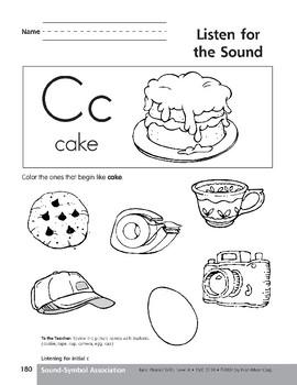 Sound-Symbol Association: Initial c