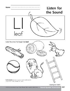 Sound-Symbol Association: Initial l