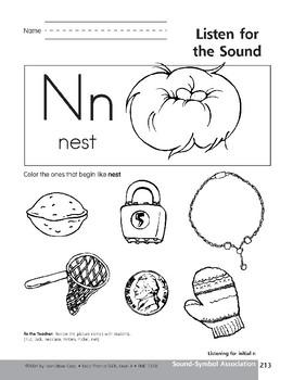 Sound-Symbol Association: Initial n