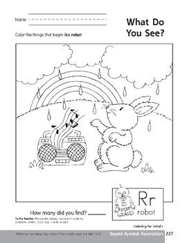 Sound-Symbol Association: Initial r