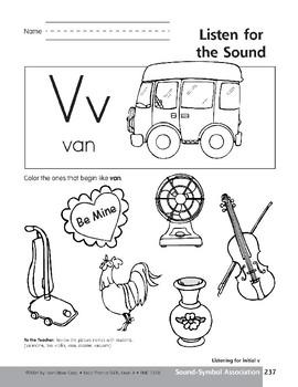 Sound-Symbol Association: Initial v