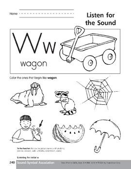Sound-Symbol Association: Initial w
