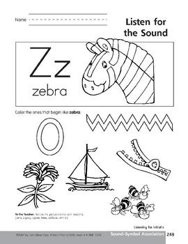 Sound-Symbol Association: Initial z