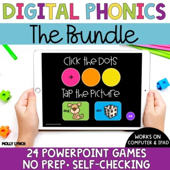 Distance Learning Sound Tappers Bundle - Digital Phonics PowerPoint Games