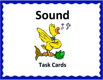 Sound Task Cards - 4th Science