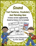 Sound Text Features Vocabulary and Quiz