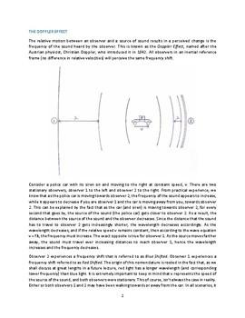 Sound & The Doppler Effect