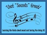 Sound! The Energy All Around Us