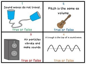 Sound True or False Task Cards