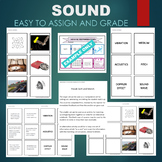 Sound (Vibration, Medium, Acoustics, Pitch, etc) Sort & Match Activity