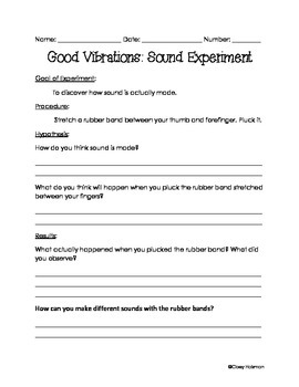 Sound Vibration Worksheets & Teaching Resources | TpT