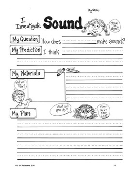 NGSS Grade 1 Sound Vibrations Investigation Performance Assessment