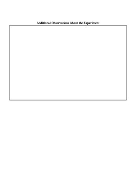 Sound Vibrations Worksheet for Rice Experiment