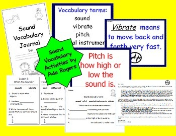 Sound Vocabulary Activities
