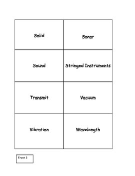 Sound Vocabulary Flashcards