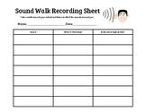 Sound Walk Recording Sheet