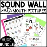 Sound Wall with Mouth Pictures