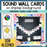 Sound Wall Cards on White Shiplap