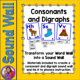 Sound Wall - Consonants and Digraphs - for replacing the Word Wall