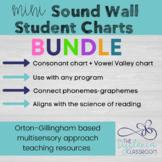 Sound Wall Mini Charts BUNDLE - Alphabet sound wall + Vowe