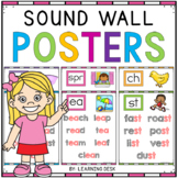 Phonics Sound Wall Cards Words Posters Kindergarten First