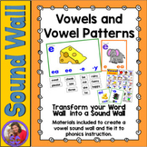 Sound Wall - Vowels, Digraphs, and Diphthongs - for replac