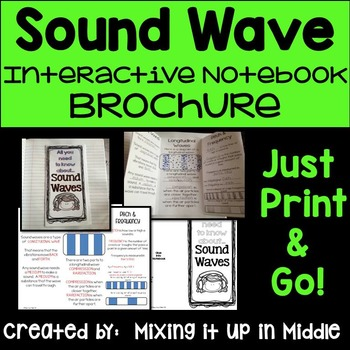 Sound Wave Interactive Notebook Brochure