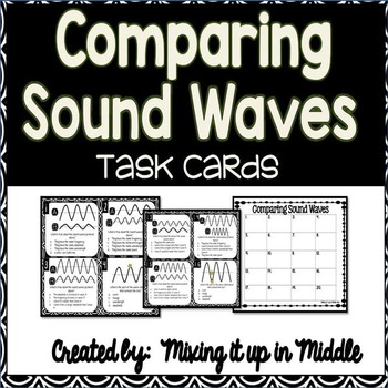Sound Wave Task Cards-Comparing and Analyzing Sound Waves
