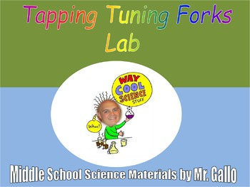 NGSS ES./MS./HS. Waves: Tapping Tuning Forks Lab