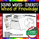 Sound Waves Activity, Wheel of Knowledge Interactive Notebook