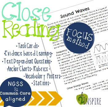 Sound Waves Close Reading Evidence and Text-Dependent ...