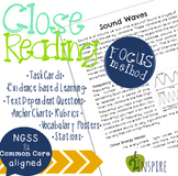 Sound Waves Close Reading Evidence and Text-Dependent Packet