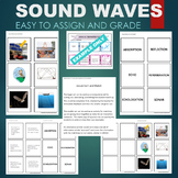 Sound Waves (Echo, Sonar, Reflection, Absorption, etc) Sort & Match Activity