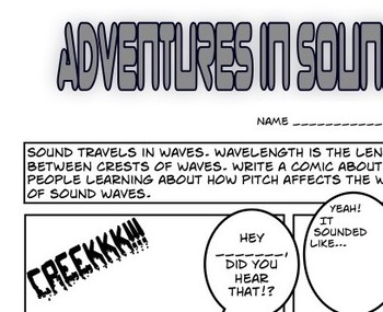 Sound Waves Fill-in Comic