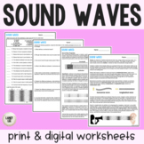 Sound Waves Guided Reading + Worksheets - PDF & Digital Versions