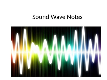 Sound Waves Powerpoint and Kahoot Quiz