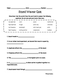 Sound Waves Quiz