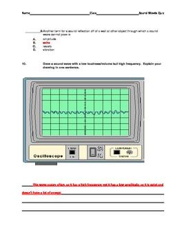 Sound Waves Quiz with Key