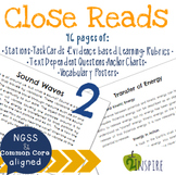 Sound Waves & Transfer of Energy Close Reading Text-Dependent Bundle