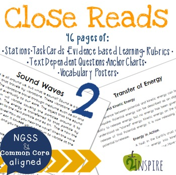 Sound Waves & Transfer of Energy Close Reading Text-Depend