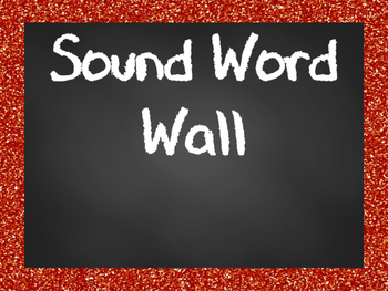 Sound Waves Word Wall